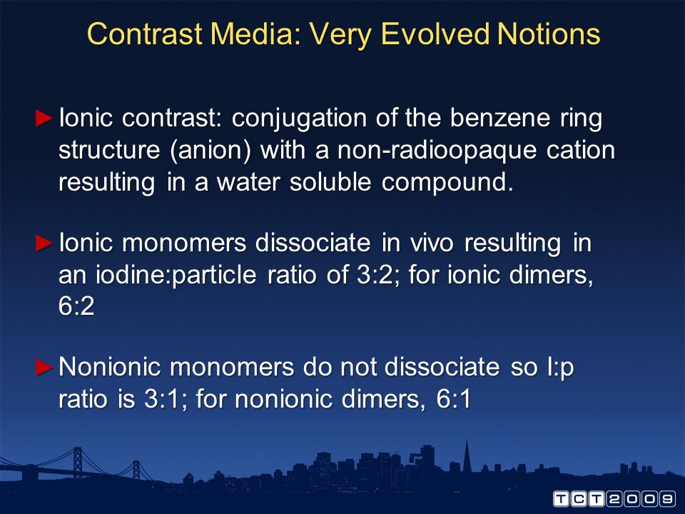Contrast Media: Very Evolved Notions