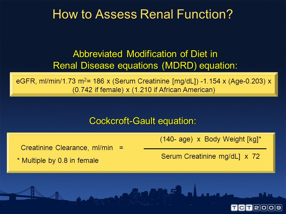 How to Assess Renal Function