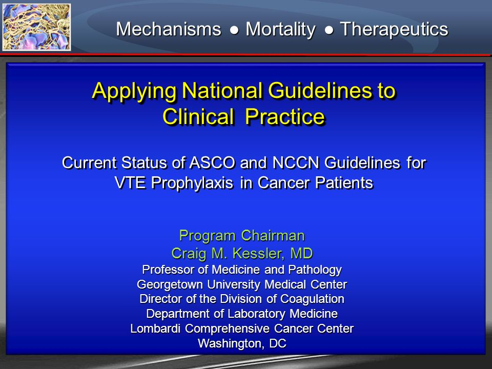 Applying National Guidelines to Clinical Practice