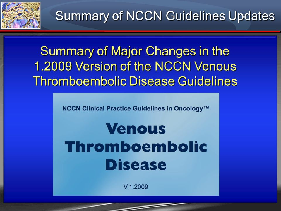 Summary of NCCN Guidelines Updates