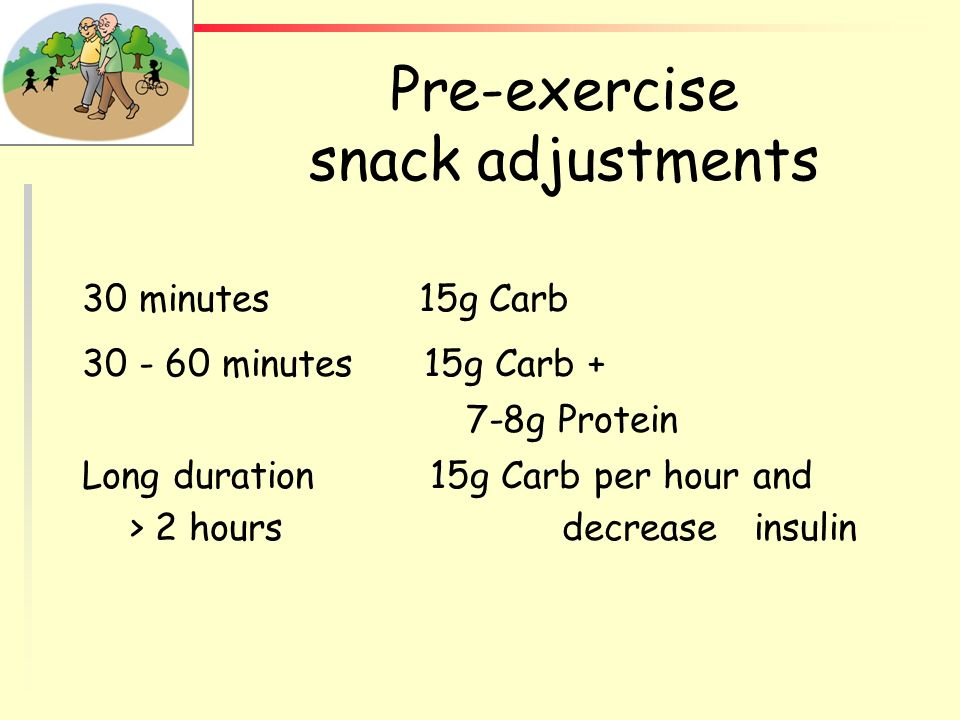 Pre-exercise snack adjustments