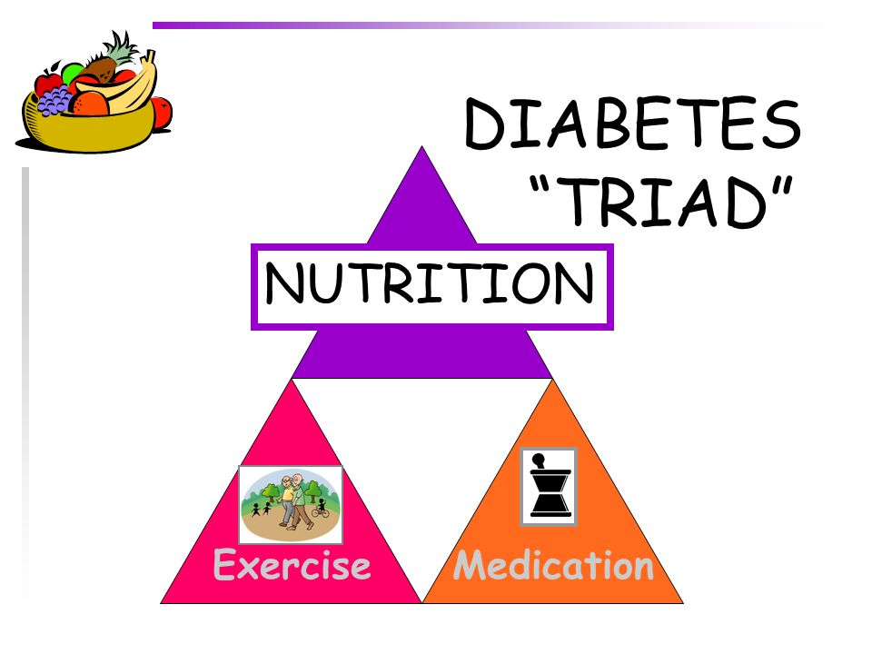 DIABETES TRIAD NUTRITION Exercise Medication