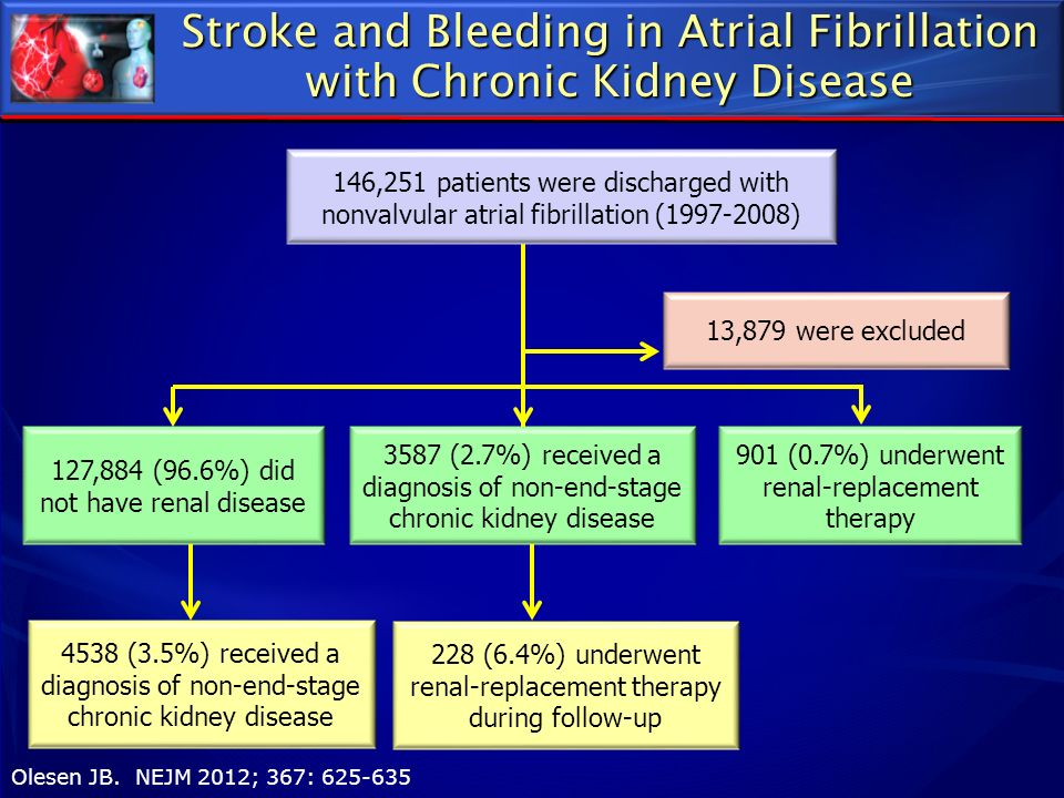 Stroke and Bleeding in Atrial Fibrillation with Chronic Kidney Disease