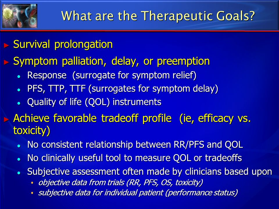 What are the Therapeutic Goals