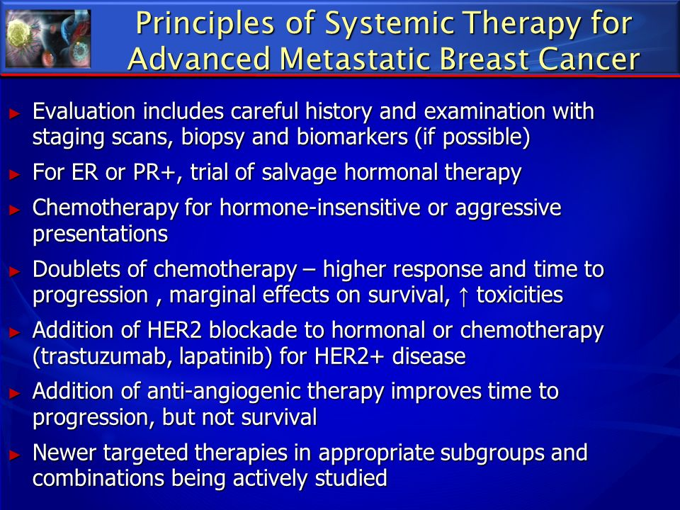 Principles of Systemic Therapy for Advanced Metastatic Breast Cancer