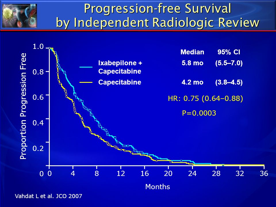 Progression-free Survival by Independent Radiologic Review