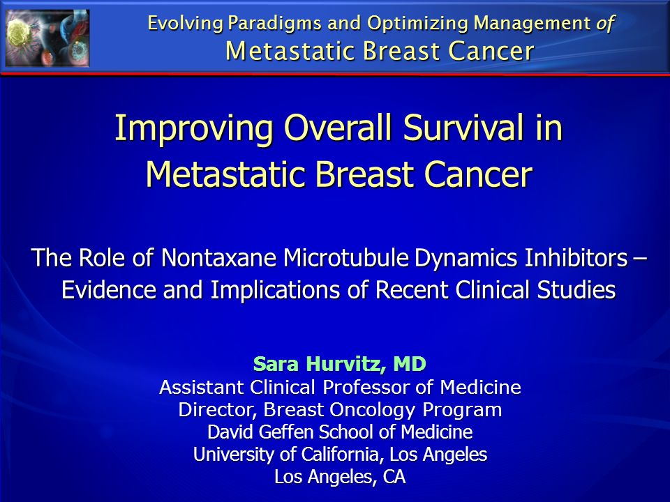 Improving Overall Survival in Metastatic Breast Cancer