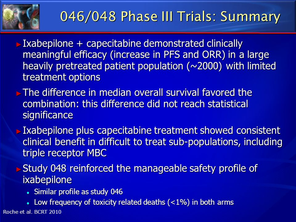 046/048 Phase III Trials: Summary