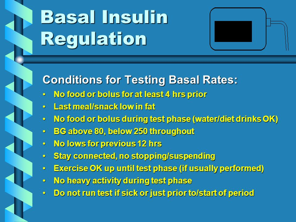 Basal Insulin Regulation
