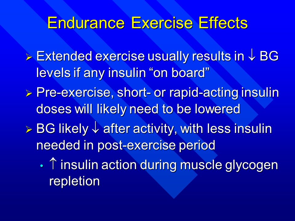 Endurance Exercise Effects