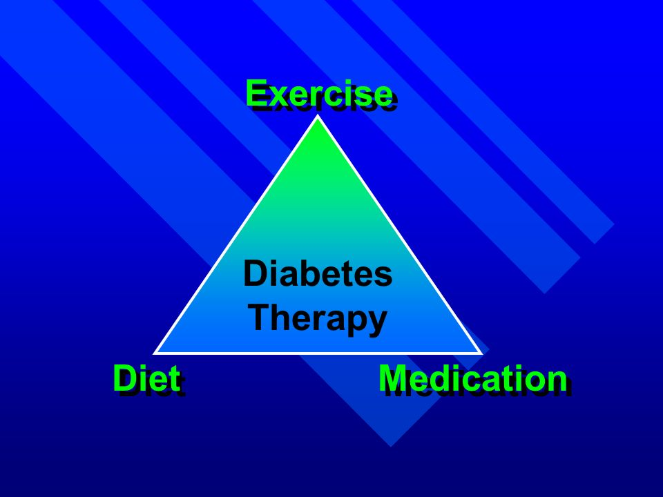 Exercise Diet Medication Diabetes Therapy