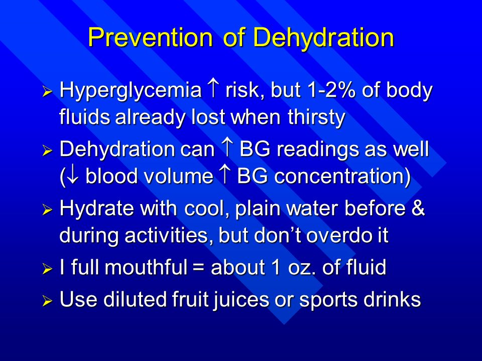 Prevention of Dehydration