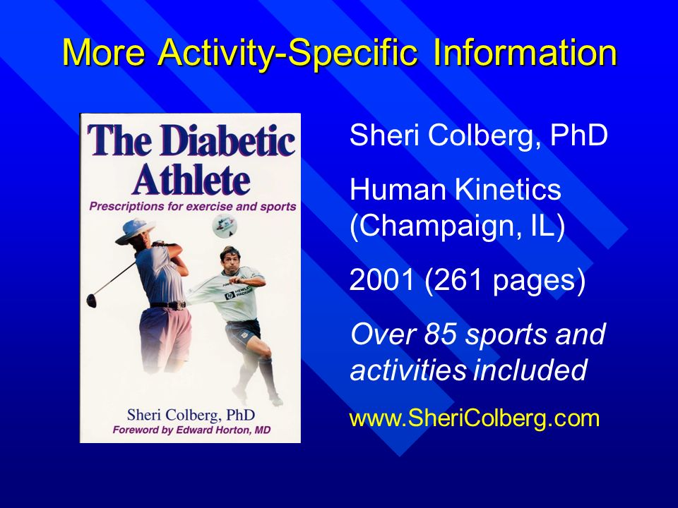 More Activity-Specific Information