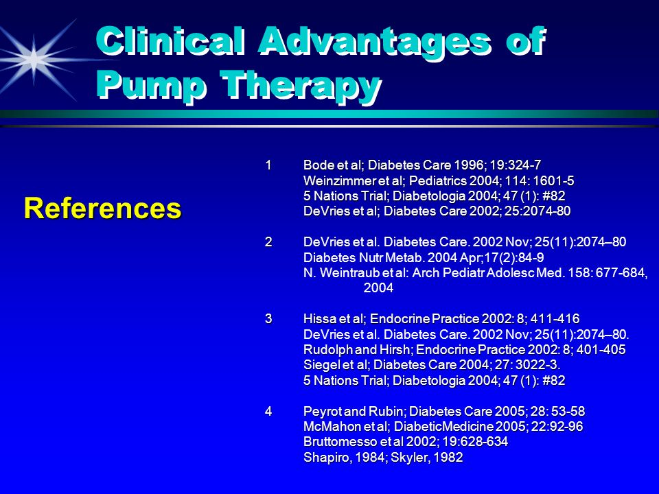 Clinical Advantages of Pump Therapy