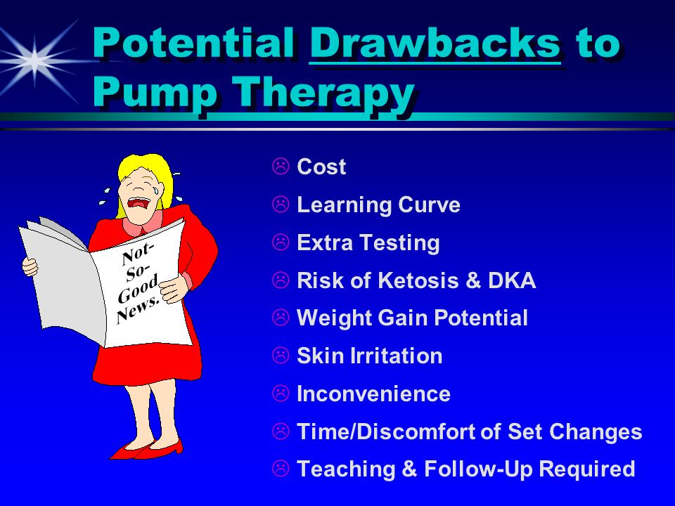 Potential Drawbacks to Pump Therapy