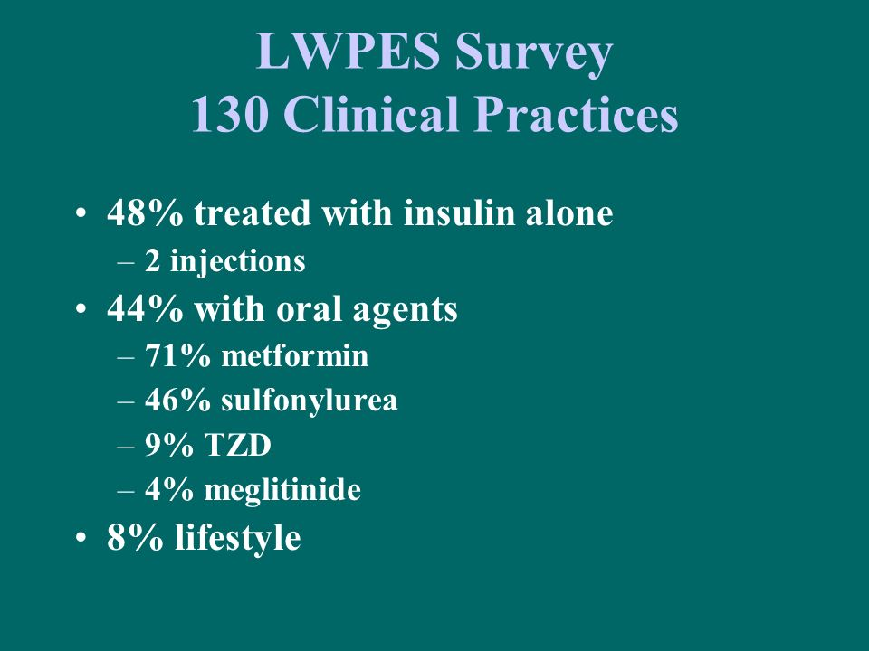 LWPES Survey 130 Clinical Practices