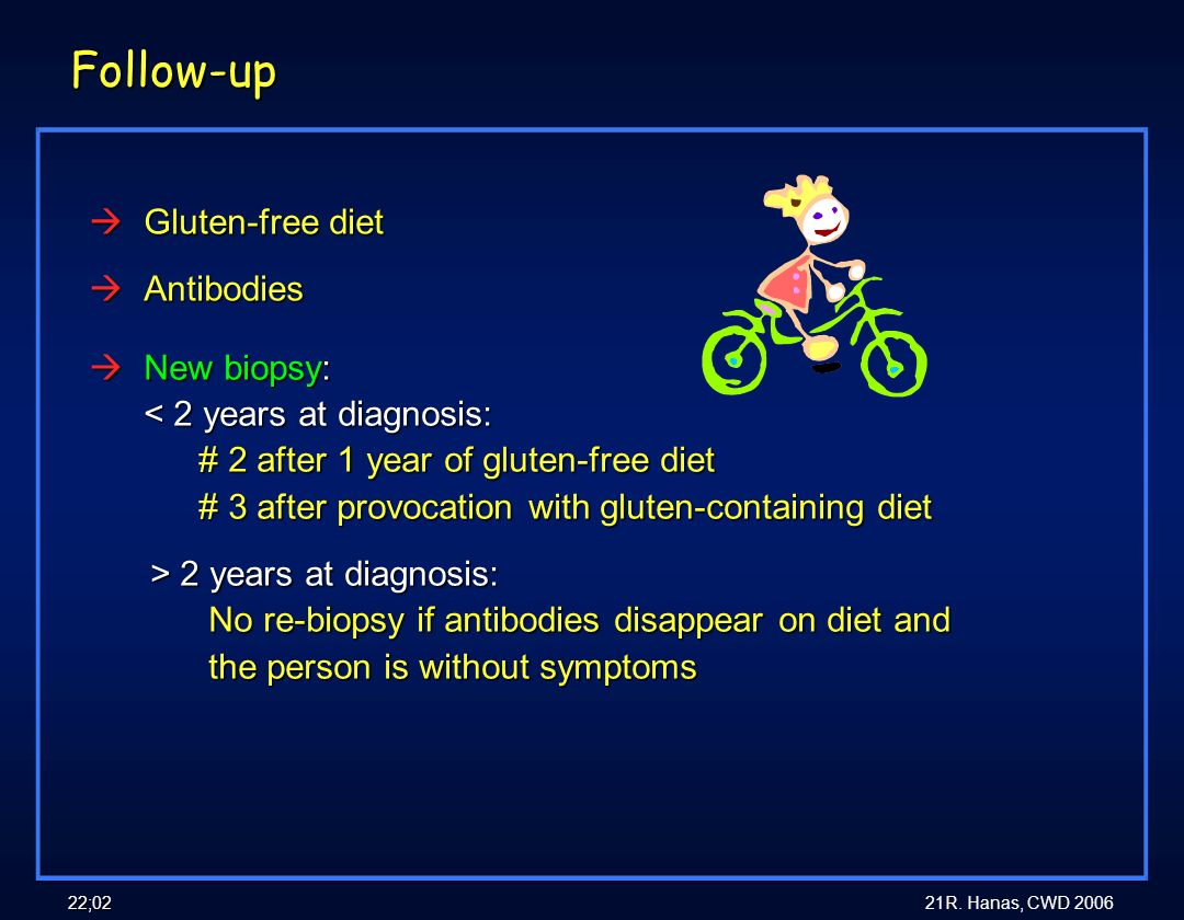 Follow-up Gluten-free diet Antibodies