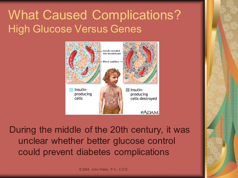 What Caused Complications High Glucose Versus Genes