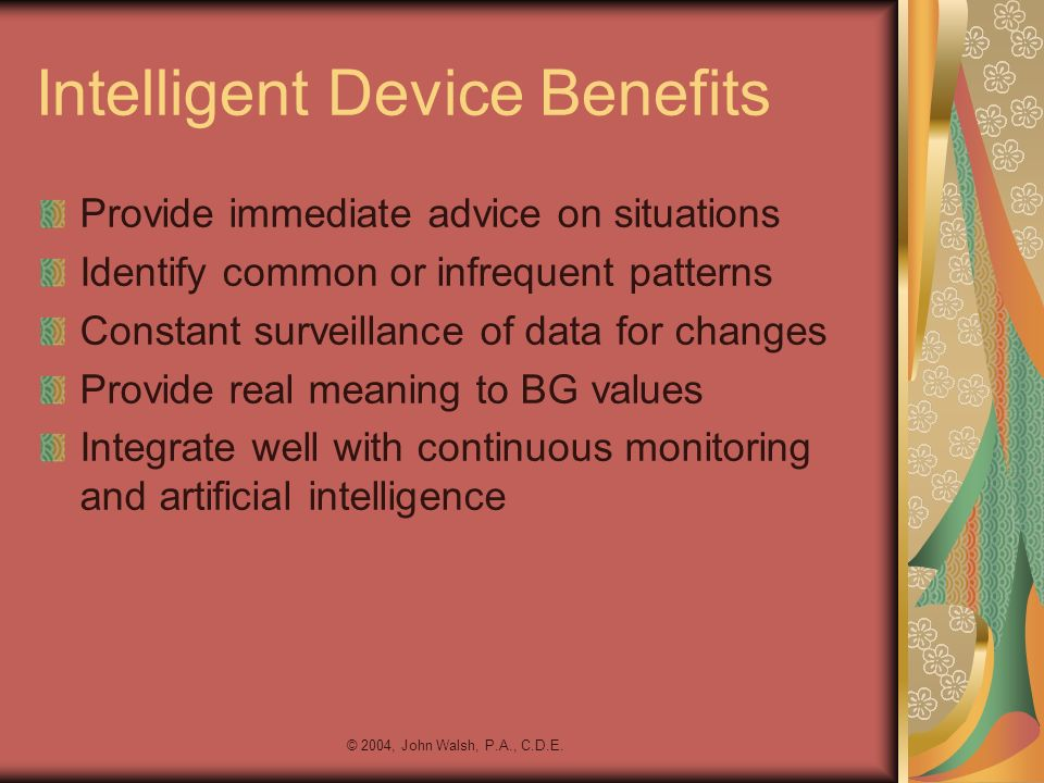 Intelligent Device Benefits