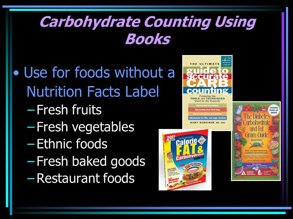 Carbohydrate Counting Using Books