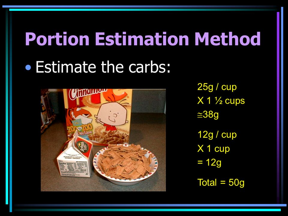 Portion Estimation Method