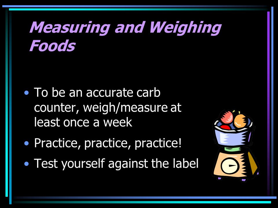 Measuring and Weighing Foods