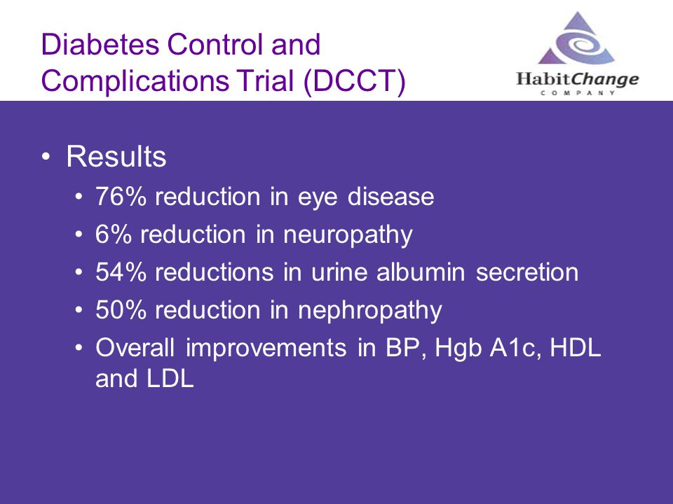 Diabetes Control and Complications Trial (DCCT)