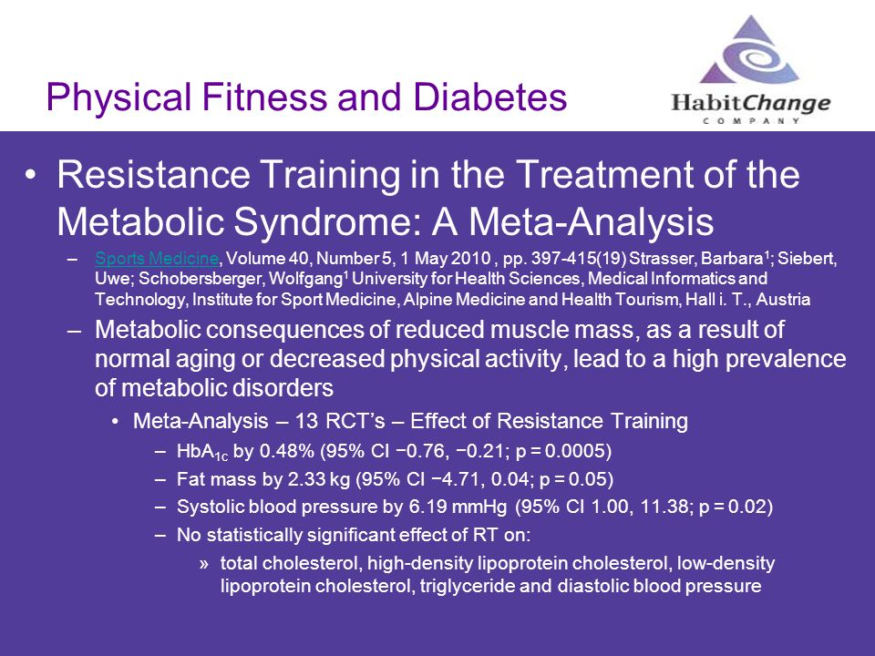 Physical Fitness and Diabetes