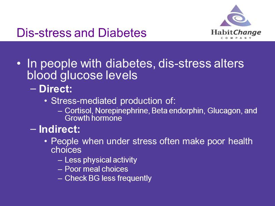 Dis-stress and Diabetes