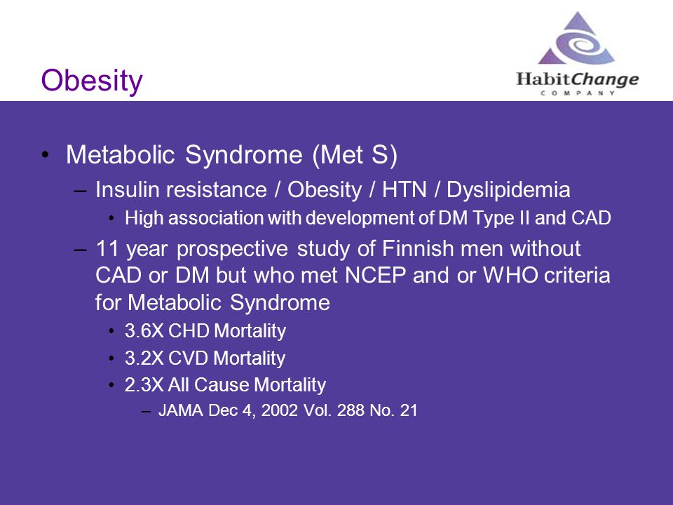 Obesity Metabolic Syndrome (Met S)