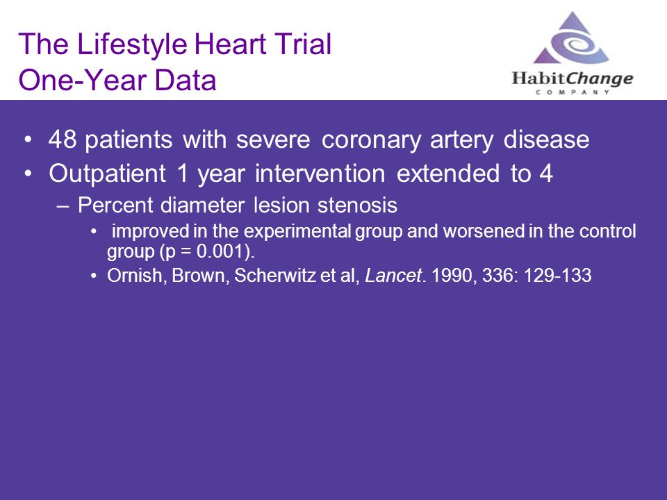 The Lifestyle Heart Trial One-Year Data