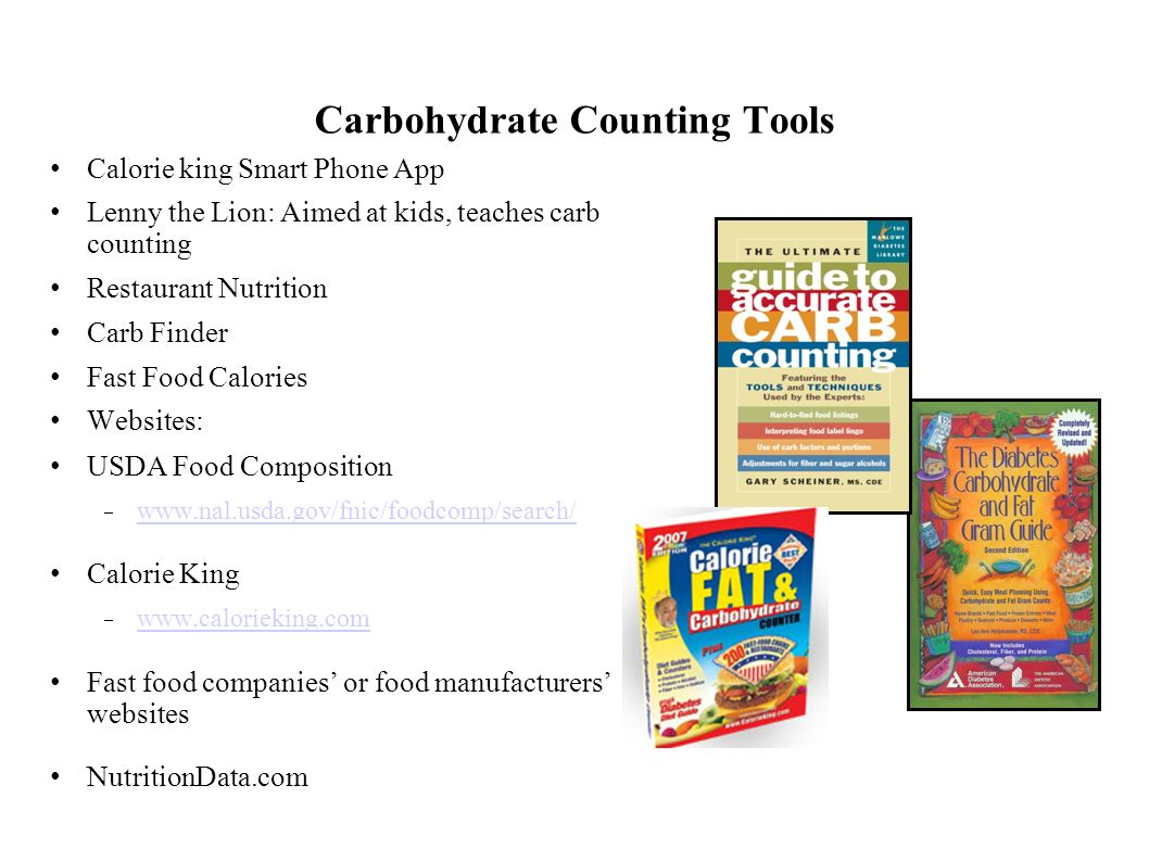 Carbohydrate Counting Tools