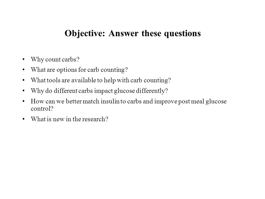 Objective: Answer these questions