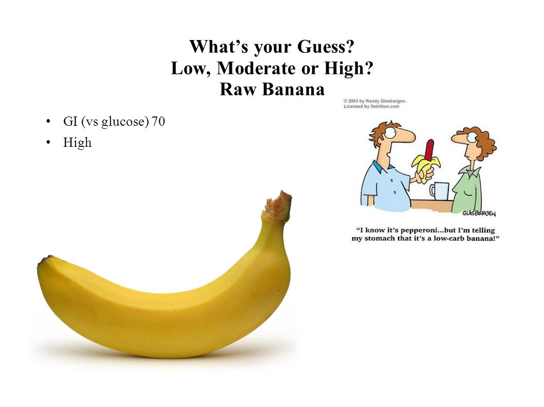 What's your Guess Low, Moderate or High Raw Banana