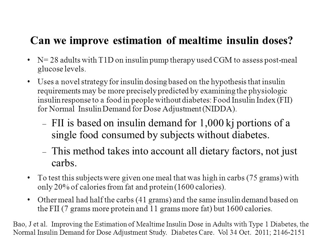 Can we improve estimation of mealtime insulin doses