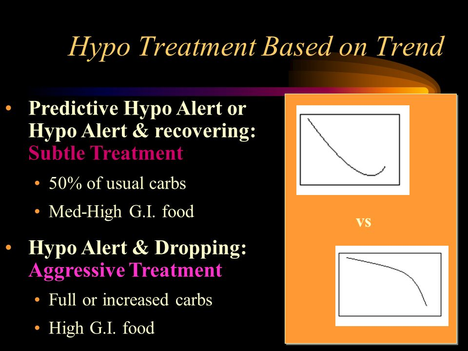 Hypo Treatment Based on Trend