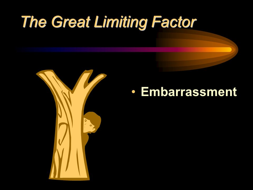 The Great Limiting Factor