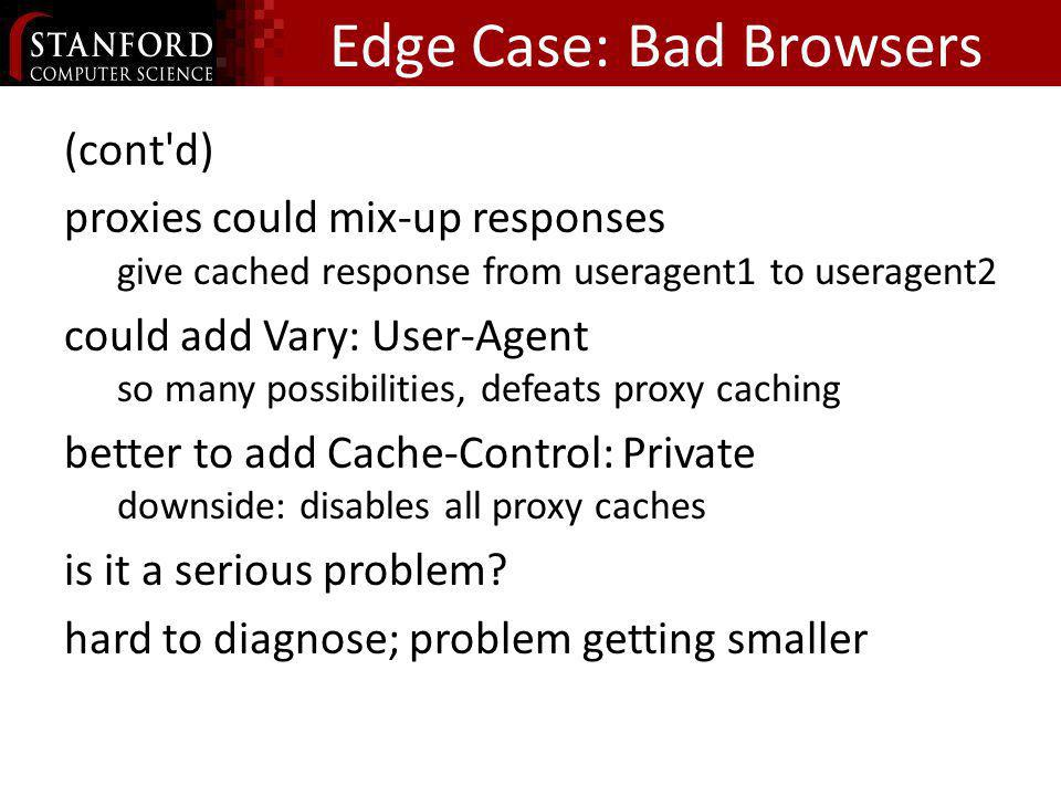 Edge Case: Bad Browsers