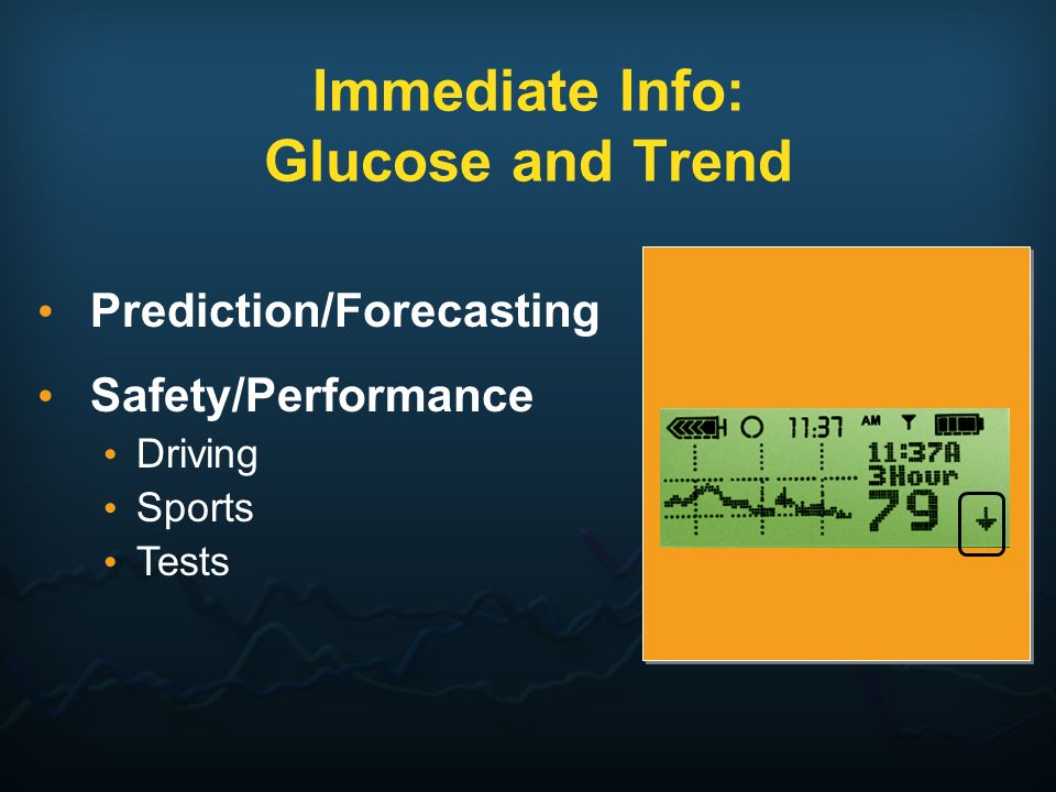Immediate Info: Glucose and Trend