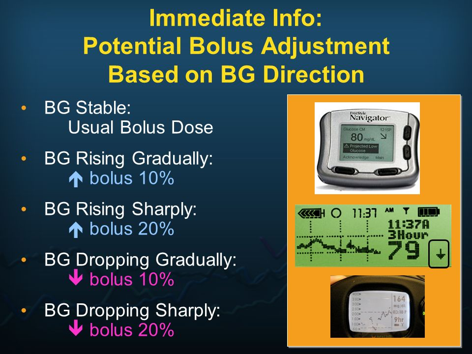 Immediate Info: Potential Bolus Adjustment Based on BG Direction