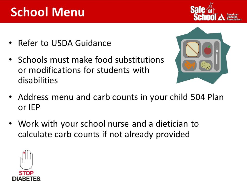School Menu Refer to USDA Guidance