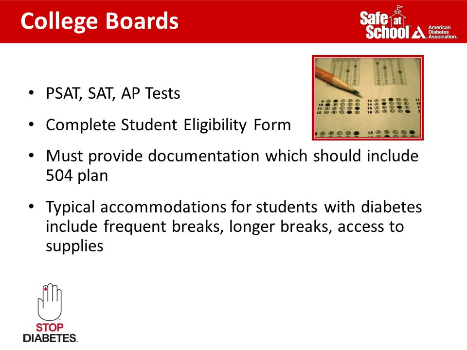 College Boards PSAT, SAT, AP Tests Complete Student Eligibility Form