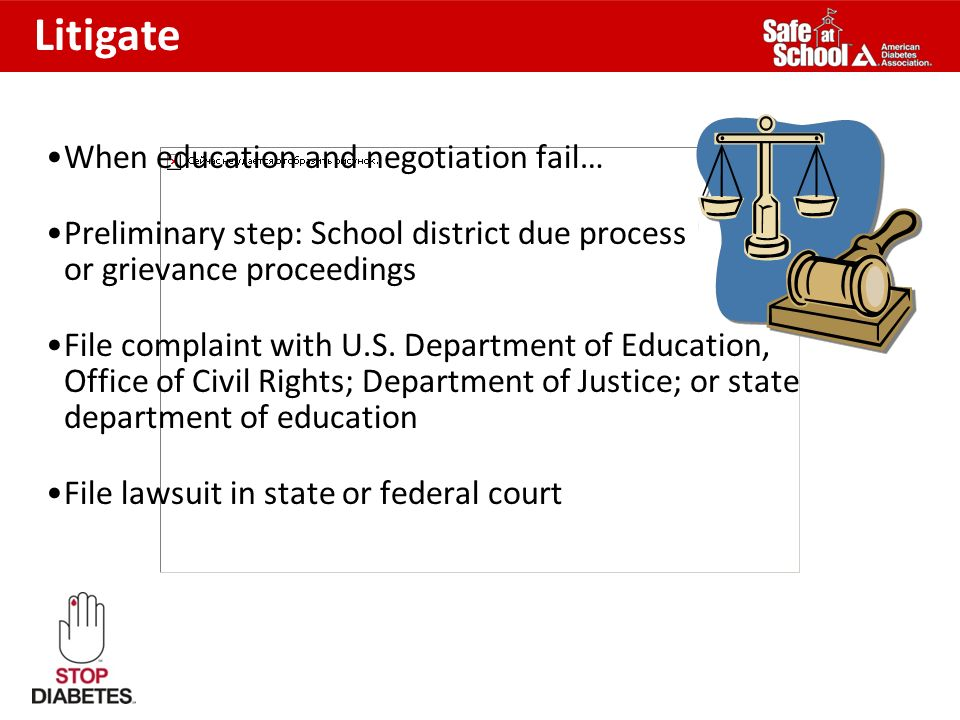 Litigate When education and negotiation fail…