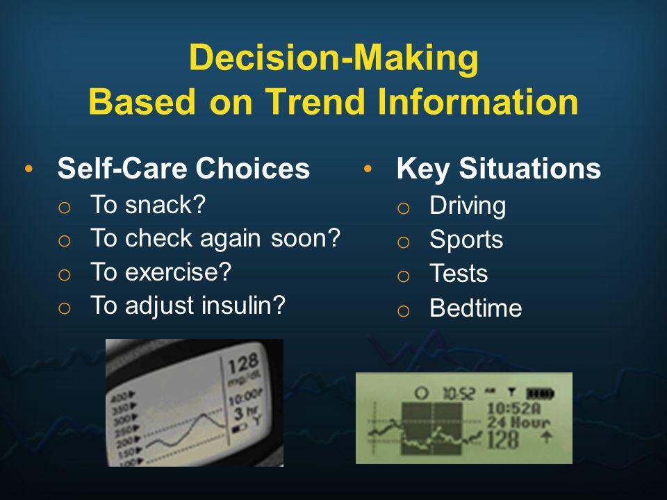 Decision-Making Based on Trend Information