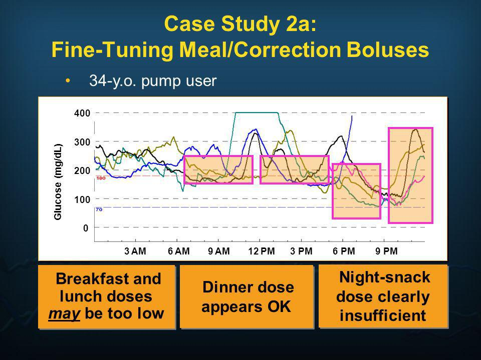 Case Study 2a: Fine-Tuning Meal/Correction Boluses
