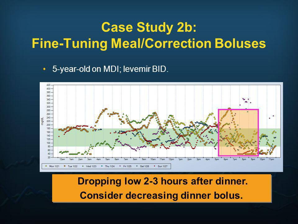 Case Study 2b: Fine-Tuning Meal/Correction Boluses