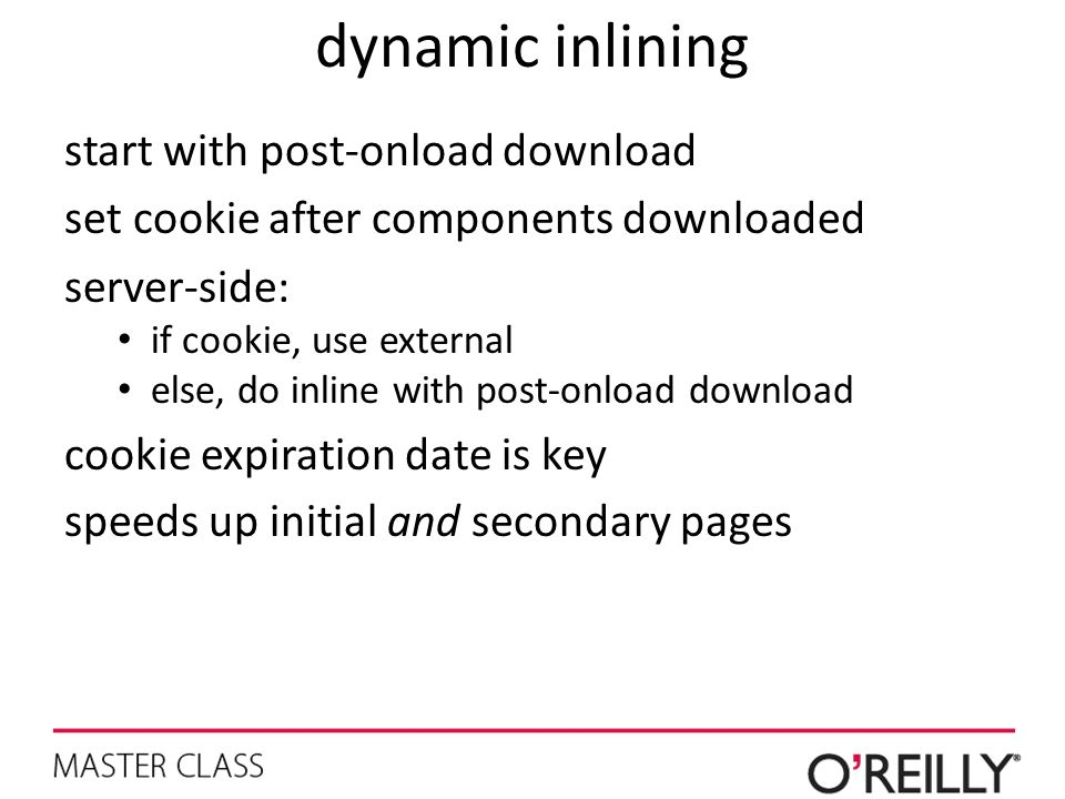 dynamic inlining start with post-onload download