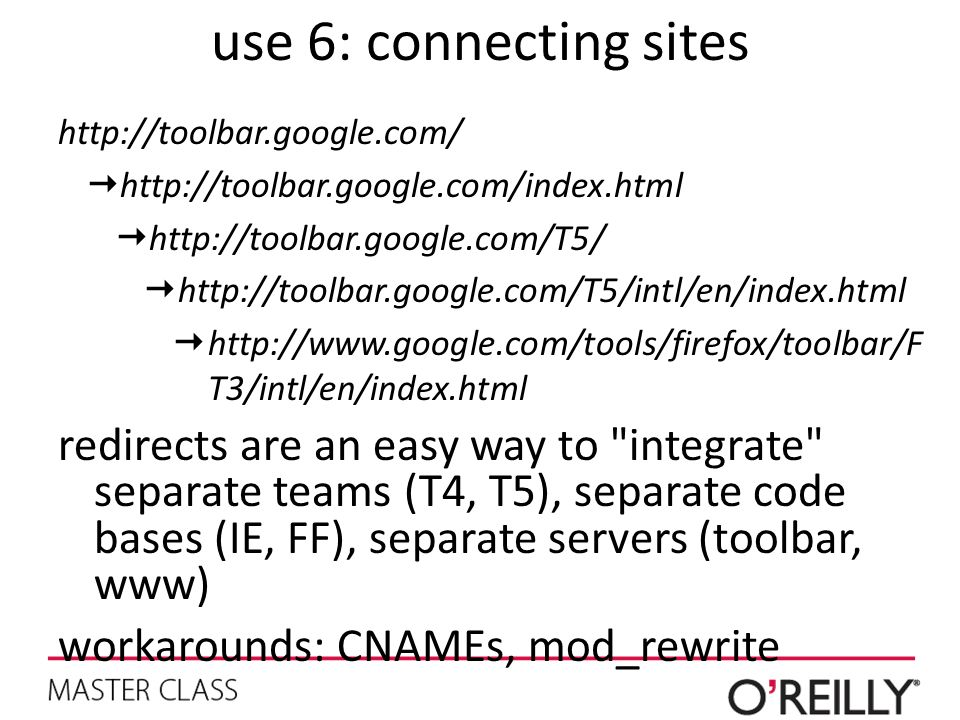 use 6: connecting sites