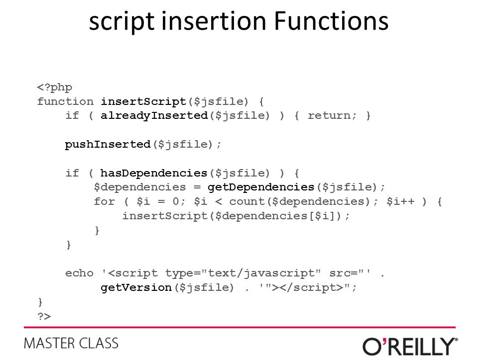 script insertion Functions