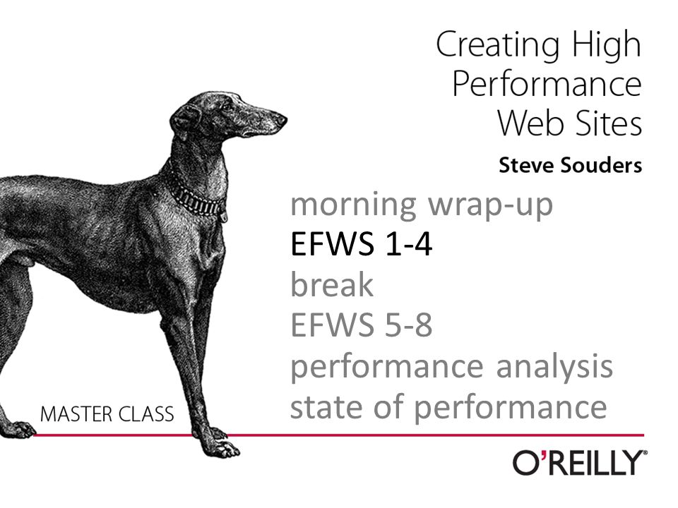 morning wrap-up EFWS 1-4 break EFWS 5-8 performance analysis state of performance